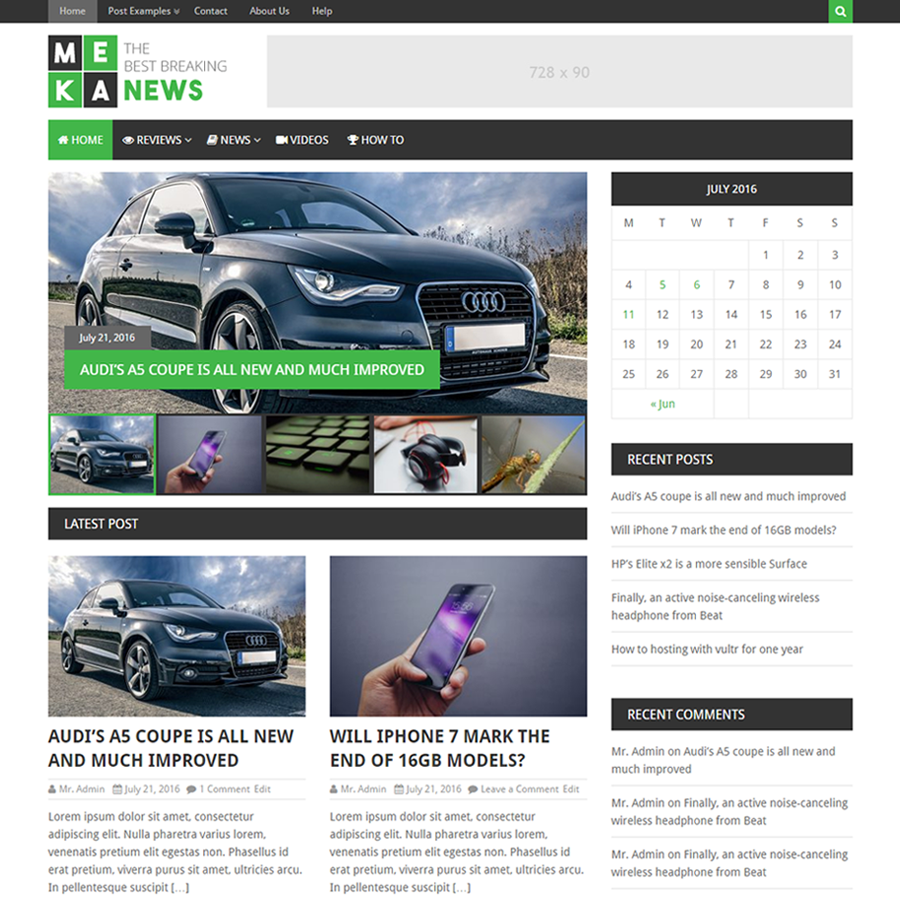 MekaNews Lite free wordpress theme