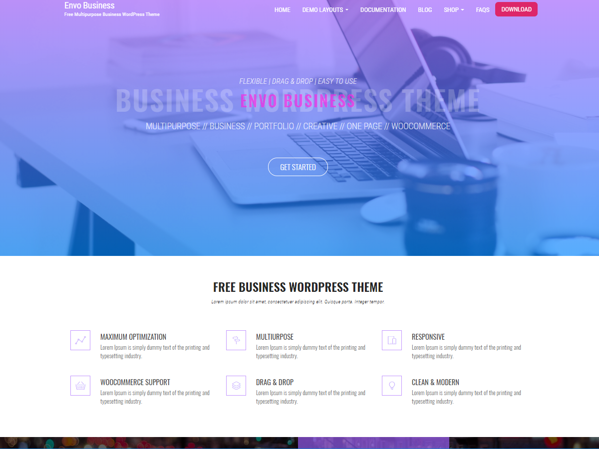 Envo Business free WordPress theme