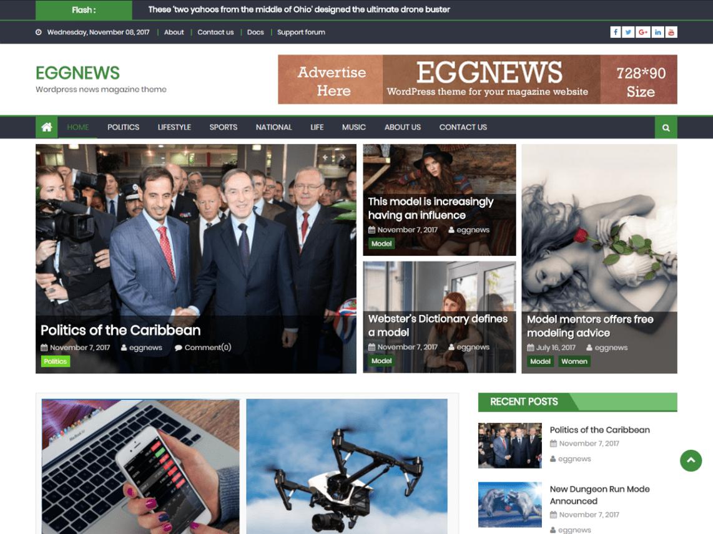 Eggnews Magazine WordPress Theme