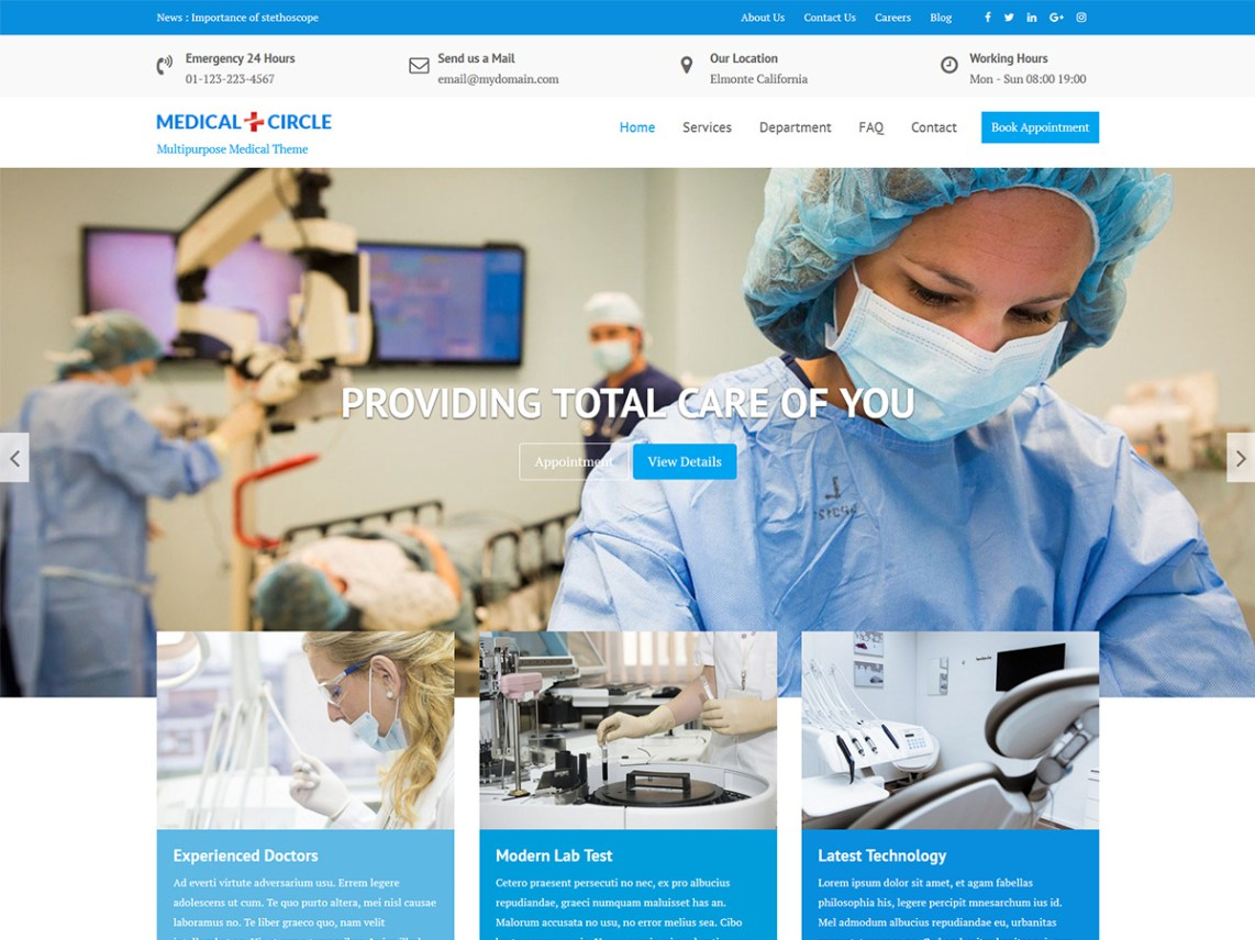 Medical Circle free wordpress theme