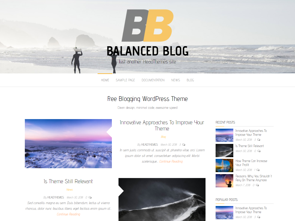 Tema za blog wordpress