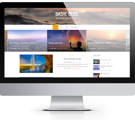 Basic Blog Free WordPress Theme